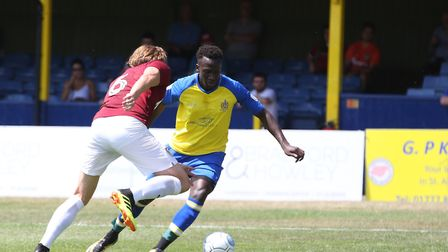 David Moyo is delighted to have finally completed his move to St Albans City. Picture: DANNY LOO