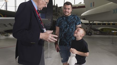 Stood amongst legendary aircraft in the AirSpace exhibition, a veteran recalls his wartime experienc
