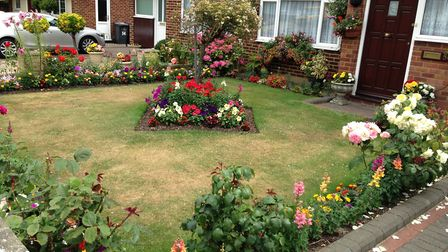 Martin Dawson's garden was awarded first place. Picture: Royston Town Council. Picture: Royston Town
