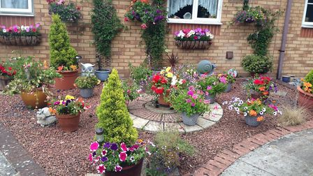 Josephine Cook's garden was awarded third place. Picture: Royston Town Council
