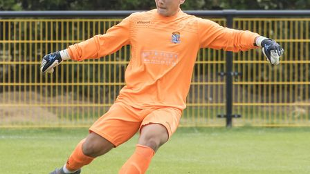 Goalkeeper Finlay Iron has returned to St Neots Town on loan. Picture: CLAIRE HOWES