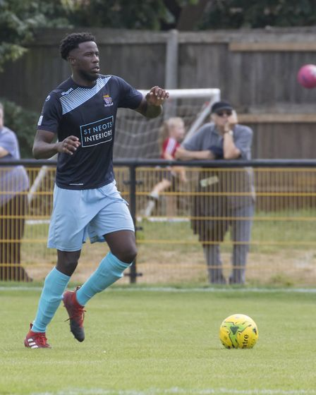 Defender Daniel Oleniran has joined St Neots Town ahead of the new Southern League season. Picture: