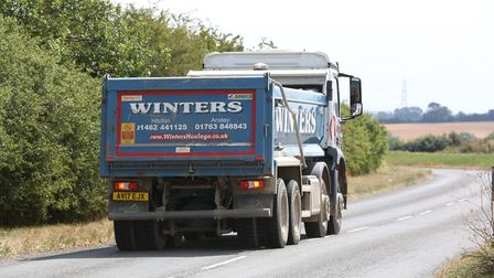 A lorry heading to Anstey Quarry. Picture: DANNY LOO