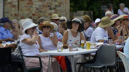 Dozens of people turned out to support the street party in Houghton. Picture: DUNCAN LAMONT