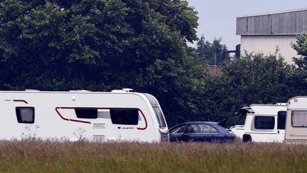 A travellers' encampment in Cambridgeshire. Picture: Ian Carter
