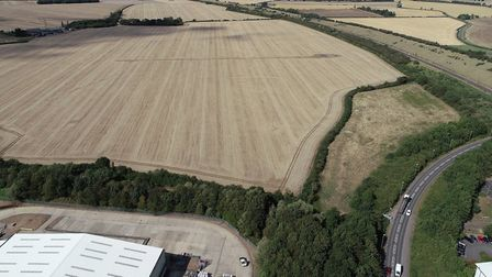 """Where the new """"throughabout"""" junction will be built on the A141 linking Huntingdon to the Alconbury"""