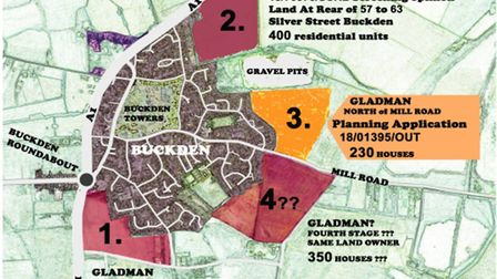 Campaigners have released a map of where they say developments are planned in Buckden