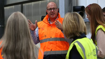 Agrivert commercial and planning manager Andrew Simm shows St Albans District Council principle wast