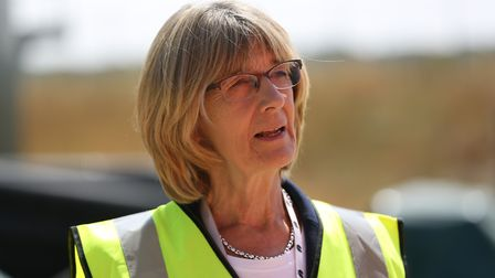 Portfolio holder for environment cllr Frances Leonard at the Agrivert recycling plant in Colney Heat