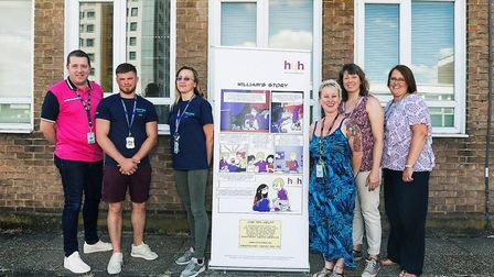 Herts Young Homeless receives a donation from Amazon. Picture: Clearbox Communications