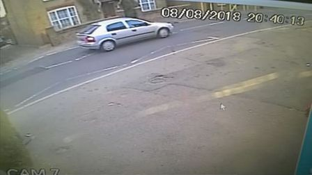 The car that was used after the robbery