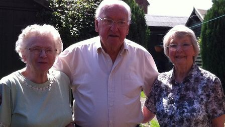 Basil Gibbons with wife Joan, left, and cousin Kitty