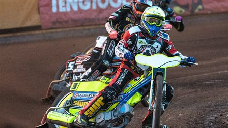 Kenneth Bjerre endured Grand Prix Challenge disappointment. Picture: IAN CHARLES