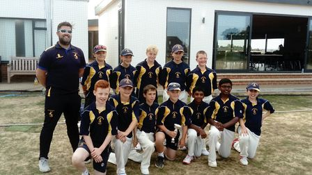 The Huntingdonshire under 12s side. Picture: CONTRIBUTED