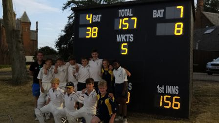 The Huntingdonshire Under 13s side. Picture: CONTRIBUTED