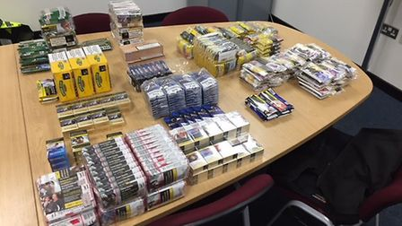Tobacco seized in police warrant in St Albans. Picture: Herts Police