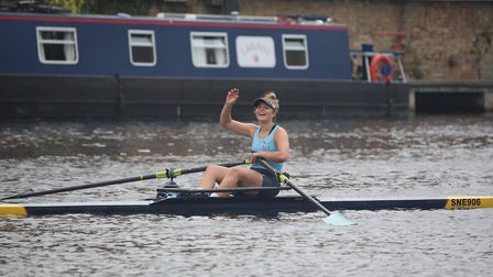 Etilly Pigg of St Neots Rowing Club enjoyed victory at their own regatta. Picture: GAVIN DODS