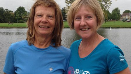 Successful St Neots Rowing Club duo Helen Knowles (left) and Ali Brown.