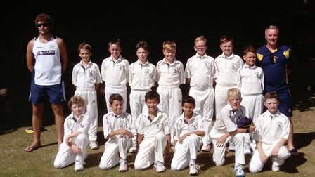 The Hunts Under 10 squad for the recent tour to Malvern College are back row, left to right, Dan Rob