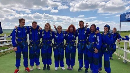 The skydiving team from Churchill Retirement Living. Picture: Churchill Retirement living.