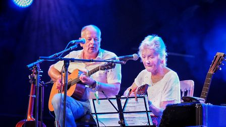 Peggy Seegar and her son Callum McColl. Picture: Celia Bartlett Photography