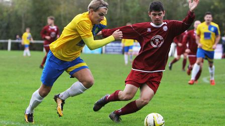 Harry Hunt made a goalscoring return to Harpenden Town colours. Picture : Karyn Haddon