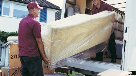 To save money on your move, consider booking the removal men for a Sunday... Picture: Getty