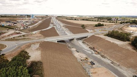 The new A14 at Godmanchester looking towards Offford. Picture: GEOFF SODEN