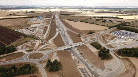 The new A14 at Godmanchester looking towards Offord. Picture: GOEFF SODEN