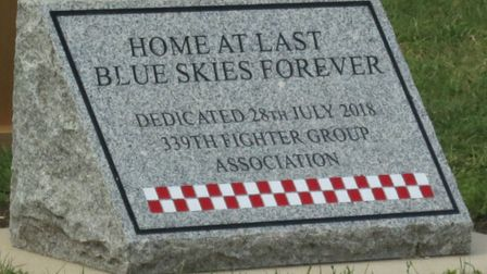 The 339th Fighter Group were remembered at the site of their former base in Fowlmere. Picture: Lesli