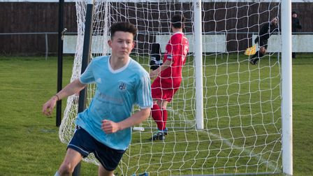 Matty Allan was a key man as Godmanchester Rovers triumphed in the FA Cup. Picture: J BIGGS PHOTOGRA