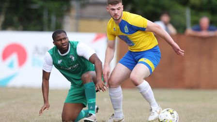 Harpenden Town V Edgware Town - FA Cup - Will McLelland in action for Harpenden Town.Picture: Kar