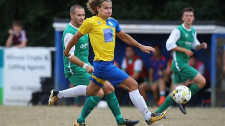 Harpenden Town V Edgware Town - FA Cup - Harry Hunt in action for Harpenden TownPicture: Karyn Ha