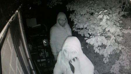 Police would like to speak to these people in connection with a break-in at the Red Cow. Picture: ES