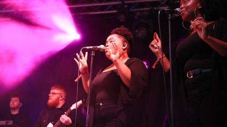 Pixie Lott's awesome backing singers at Meraki Festival 2018. Picture: KEVIN RICHARDS