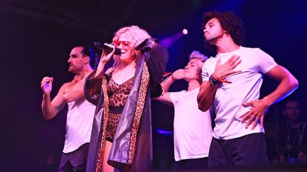 Pixie Lott and dancers at Meraki Festival 2018. Picture: KEVIN RICHARDS