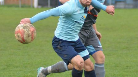 James Hall pictured during his last Godmanchester Rovers spell.