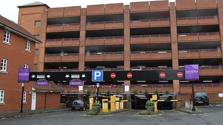 The entrance to the Maltings car park on New Kent Road