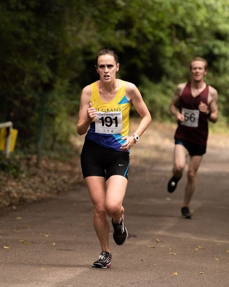St Albans Striders' Heather Hann at the St Albans 10K. Picture: Active Training World