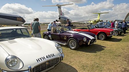 A line-up of retro cars at IWM Duxford. Picture: IWM.