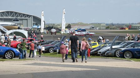 Visitors enjoying a day out at a previous IWM Duxford Summer Car Show. Picture: IWM.