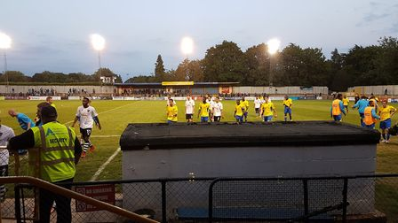St Albans City hosted Hampton & Richmond Borough at Clarence Park in the Vanarama National League So