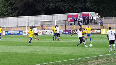 Action as St Albans City hosted Hampton & Richmond Borough in the National League South.