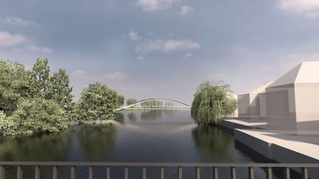 One of the proposed designs for the new town bridge.
