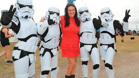 Founder & Director of Meraki Festival Kerry Marks captured by the Storm Troopers at Meraki Festival