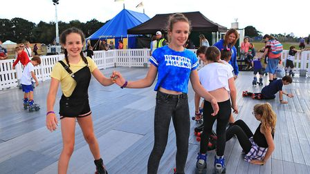 Young rollerskaters at the roller disco at Meraki Festival 2018. Picture: KEVIN RICHARDS