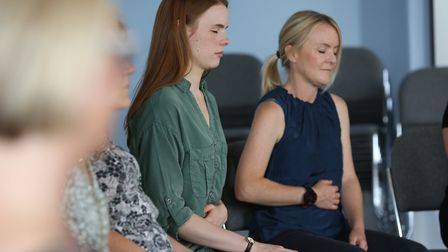 Herts Advertiser reporter Franki Berry takes part in a Mindful Pathway session to learn about mindfu