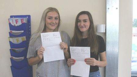 St Neots Sixth form - Emily Prout 2A*s and an A and is off to UEA and Katie Lockwood, who gained t