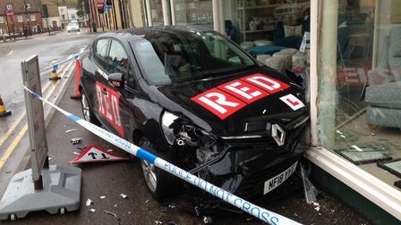 The car embedded in the front of Elphicks