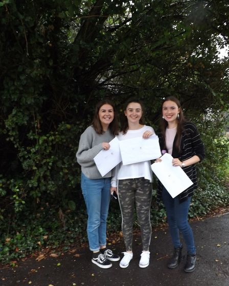 Loreto pupils celebrate their A-Level results.